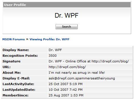 October « 2007 « Dr  WPF